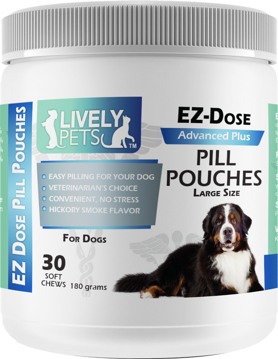 EZ-Dose Chewie Pill Pouches for Dogs (Large) 30 ct