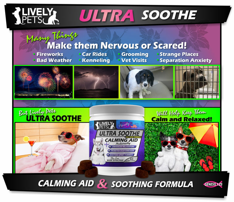 Ultra-Soothe Calming Aid for Dogs - NEW FORMULA | 2 SIZES | 1 Case (Qty 12)