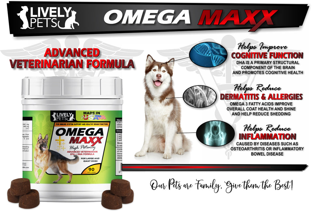 Omega Maxx Soft Chews for Large and Giant Breed Dogs | 2 SIZES