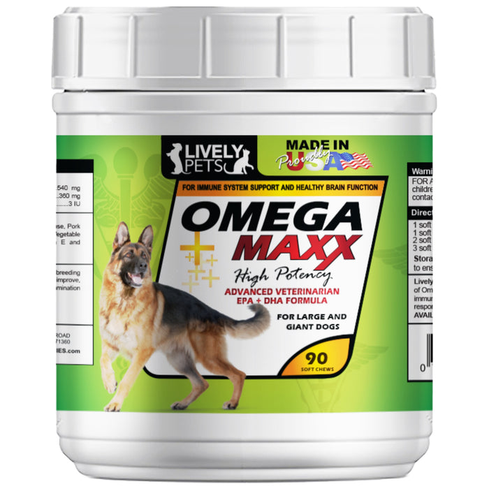Omega 3 Maxx Soft Chews for Large and Giant Breed Dogs 90 ct
