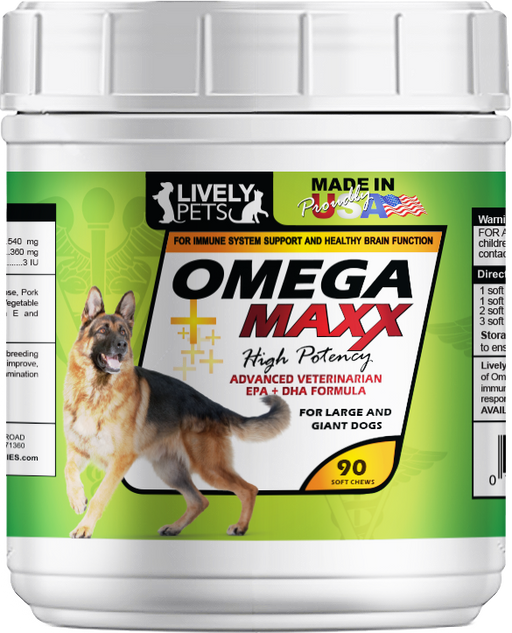 Omega Maxx Soft Chews for Large & Giant Dogs 90 ct. | 1 Case (Qty 12) - LIVELY PETS ONLINE