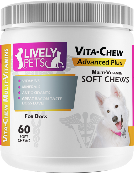 Vita-Chew Multi-Vitamin for Dogs 60 ct. | 1 Case (Qty 12) - LIVELY PETS ONLINE