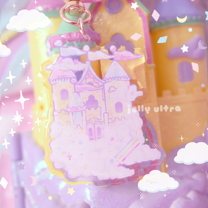 Castle in the Clouds Acrylic Charm - 2.5 inches
