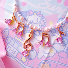 Lovely Melody Necklace - Gold x Pink