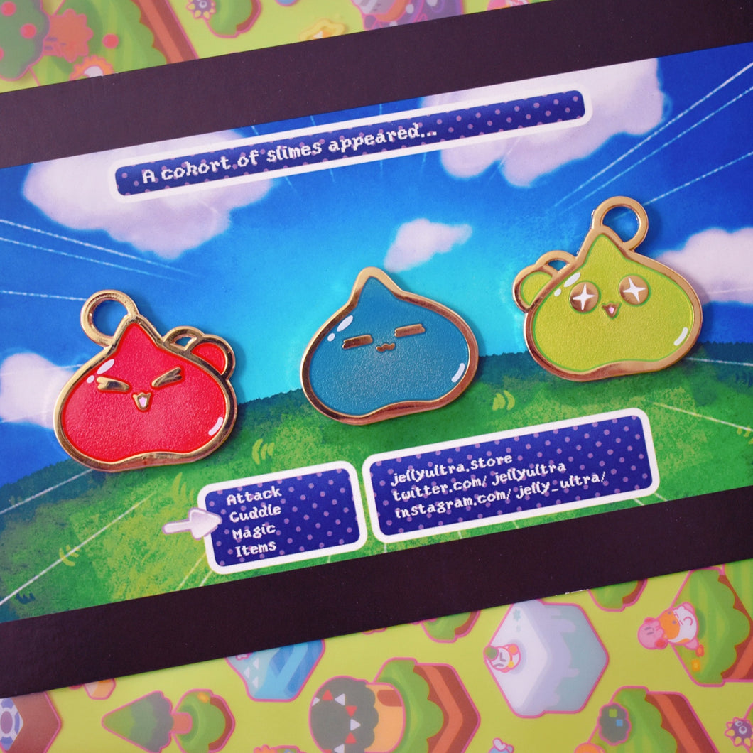 Slime Trio Enamel Pin Set