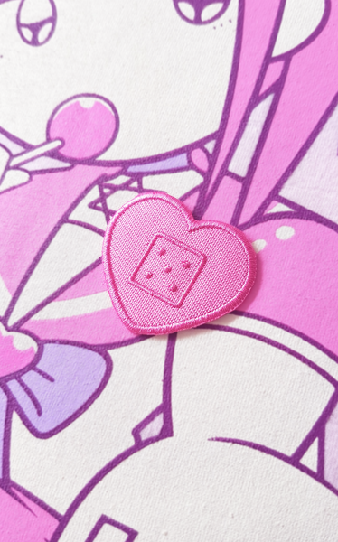 Pink Heart Bandage Patch (iron-on)