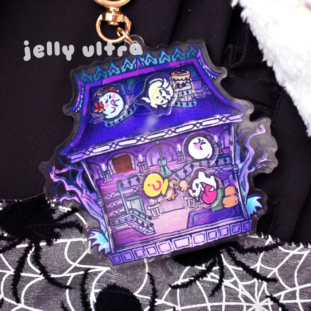 Boo's Mansion Shaker Acrylic Charm - 3.5 inches