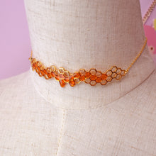 *PREORDER* Detailed Honeycomb Choker 18k Gold