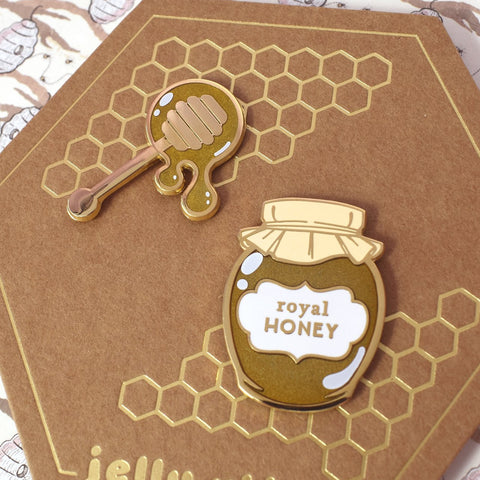 Royal Honey Enamel Pin (Choose set or single pin)