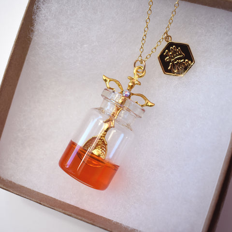 Large Honey Jar and Spoon Necklace