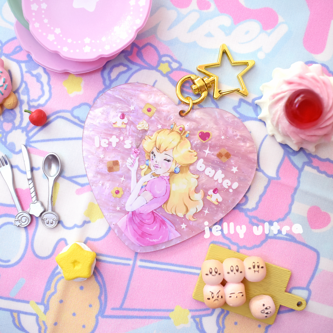 Let's Bake! Pearlescent Pink Keychain - 7cm