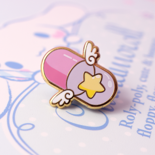 Starry Pill Enamel Pin