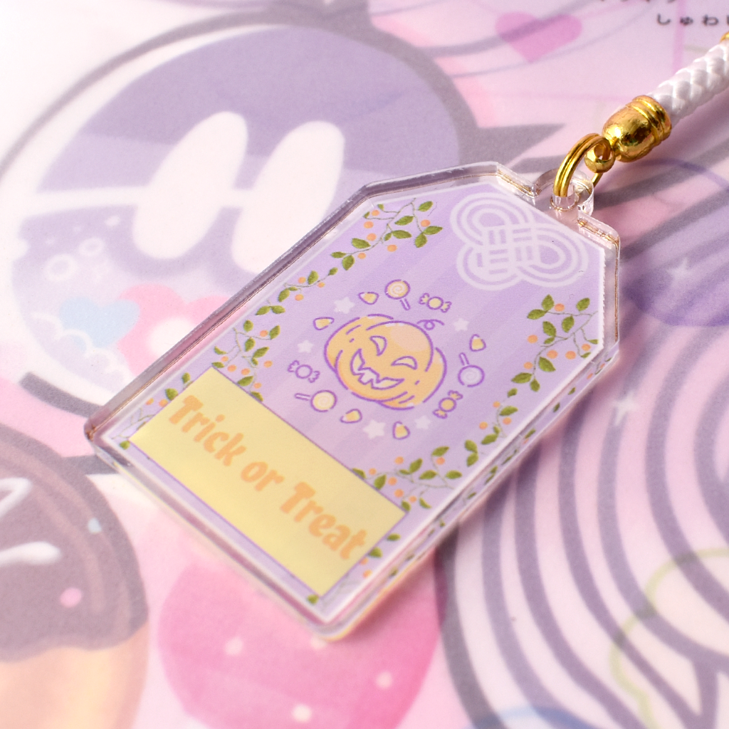 Trick or Treat Omamori Acrylic Charm - 2 inches