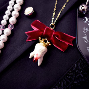 Royal Blood Tooth Necklace [Yumiyumyum x Jelly Ultra]
