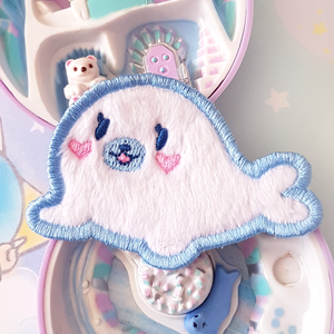 Fuzzy Baby Seal Patch (sew-on)
