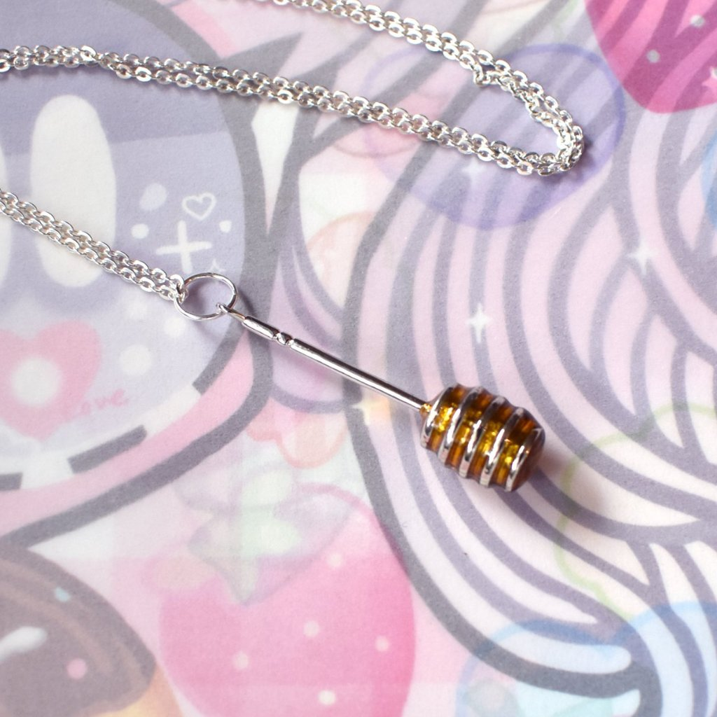 *Made To Order* Honey Dipper Necklace - Silver