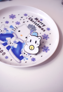 Snow Cat Enamel Pin