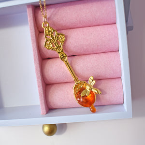 Honey Spoon with Bee Necklace