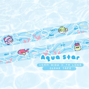 *DEFECT* Aqua Star Clear Tape