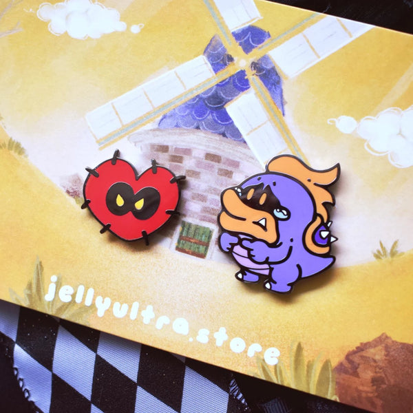 Tubba Blubba and his Heart Enamel Pin Set