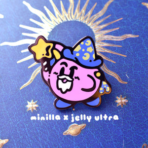 Wizard Korb Enamel Pin [Minilla x Jelly Ultra]