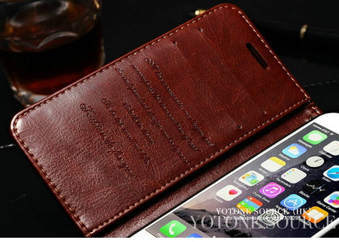 Wallet Leather Case For Apple iPhone - Silicon Geeks