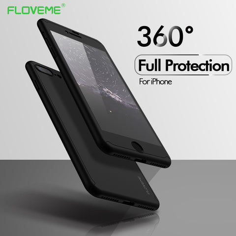 360 Protective Case For Apple's iPhone with Tempered Glass - Silicon Geeks