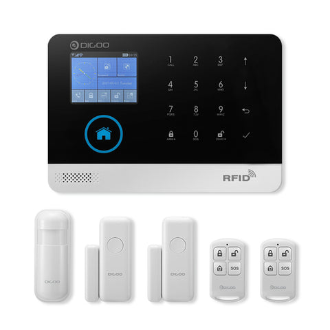 GSM/WIFI Smart Home Security Alarm System (with Infrared Motion Sensor Door Alert with APP Control) - Silicon Geeks