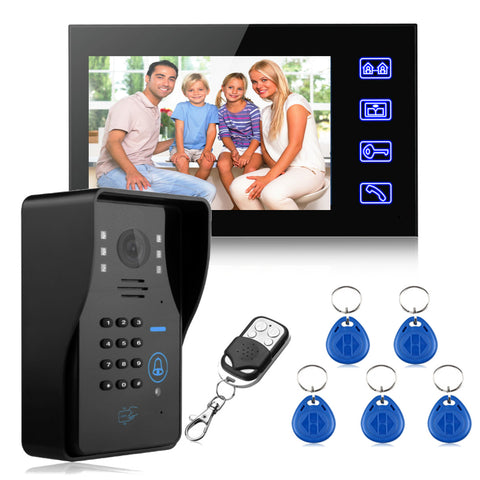 "7"" LCD RFID Video Doorbell Intercom System - Silicon Geeks"