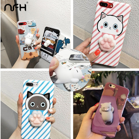 3D Cartoon Cute Cat Claw Soft Silicone Case For Apple iPhone - Silicon Geeks