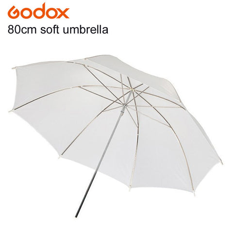 "80cm 33"" Photography Soft Translucent White Diffuser Umbrella for Studio Flash Lighting - Silicon Geeks"