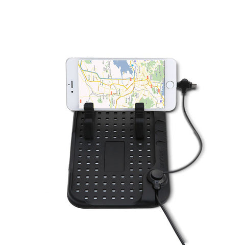 Silicone Phone Holder With Magnetic USB Charger - Silicon Geeks