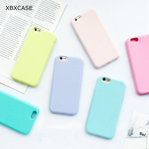 Macarons Color TPU Silicone Frosted Matte Case for Apple iPhone - Silicon Geeks