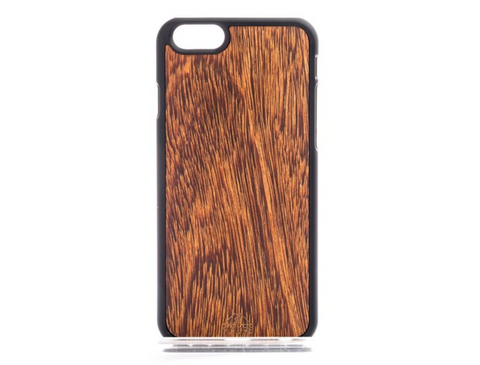 MMORE Wood Sucupira Phone Case - Silicon Geeks