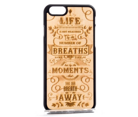 MMORE Wood The Meaning Phone Case - Silicon Geeks