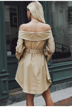 off shoulder trench coat