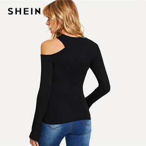 Asymmetrical Neck Tee