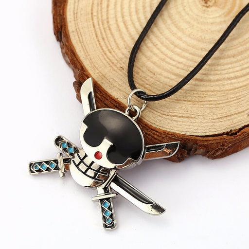 New Anime One Piece Luffy Skull Pendant Necklace Rope Chain Necklace Pendant Mask Pendant&Necklace Valentine's Day Gifts HC11526