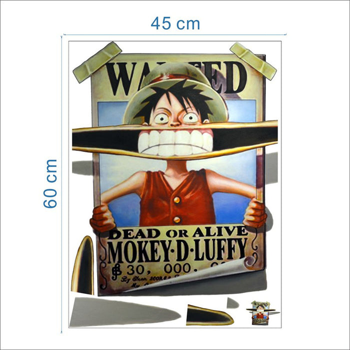 Luffy Removable Wanter Poster