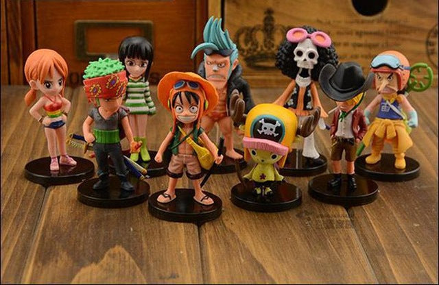 9 Pcs/Set 6-7cm Cartoon One Piece Luffy The straw hat Pirates PVC Anime Action Figure Toys Kids Adult Collection Model Gift P020
