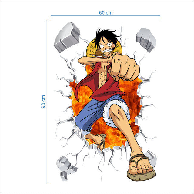 Luffy 3D Wall Sticker