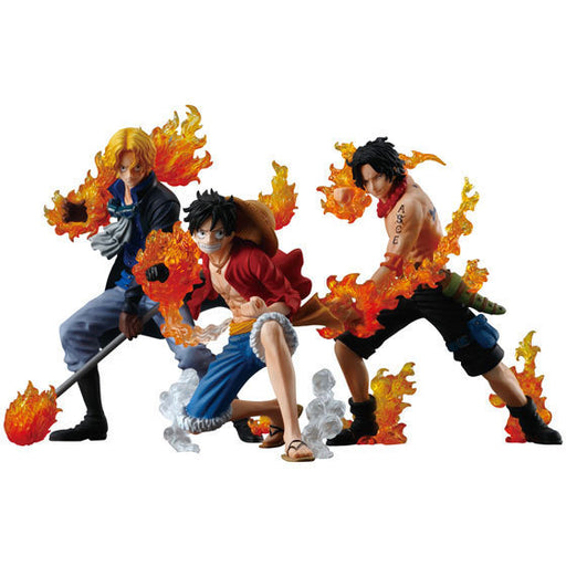 NEW hot 8-12cm One piece Flame three brothers luffy ace Sabo action figure toys Christmas toy