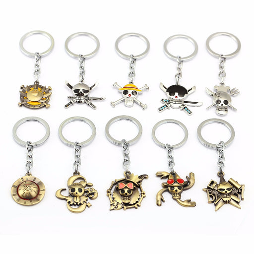 One Piece Skull Keychains