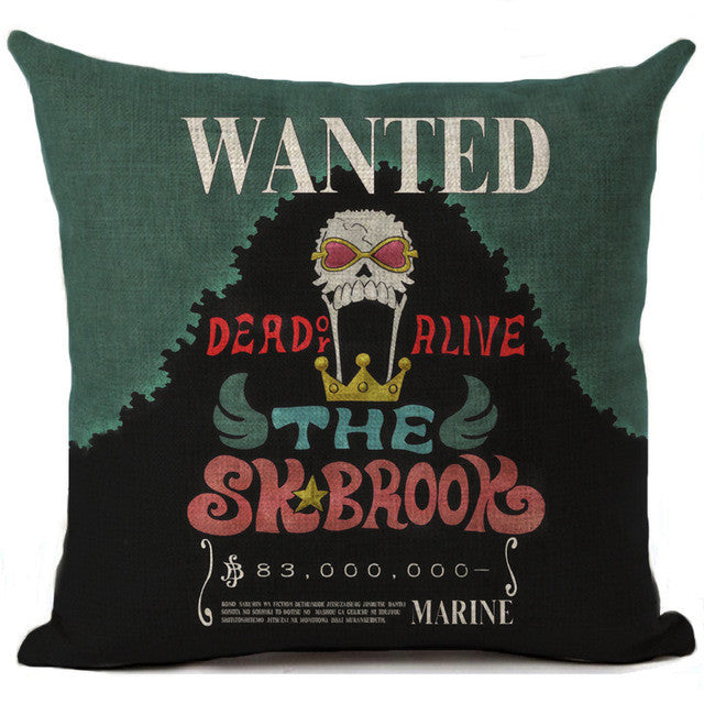 One Piece Wanted Poster Cushion