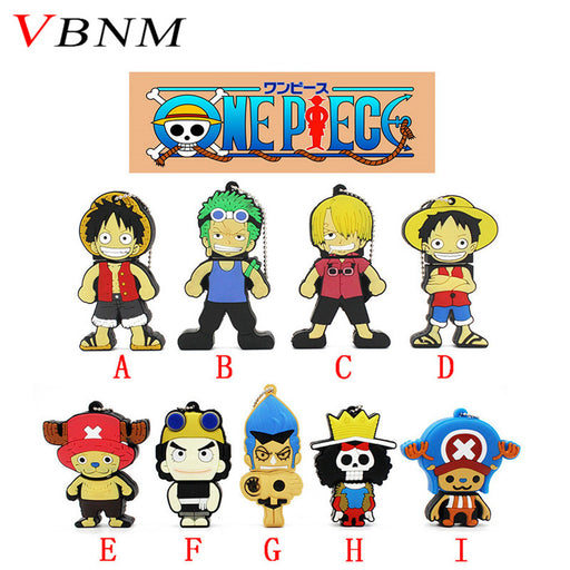 VBNM cute One piece series pen drive Luffy Zoro Chopper Sanji usb flash drive 4GB 8GB 16GB 32GB cartoon  gift