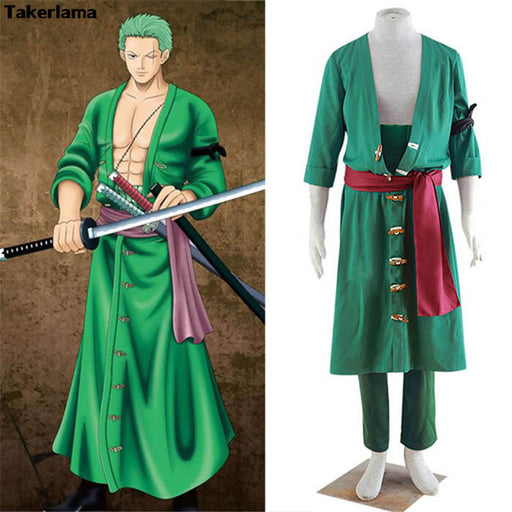 Takerlama Anime One Piece Roronao Zoro Swordman Cosplay Costume Halloween Anime