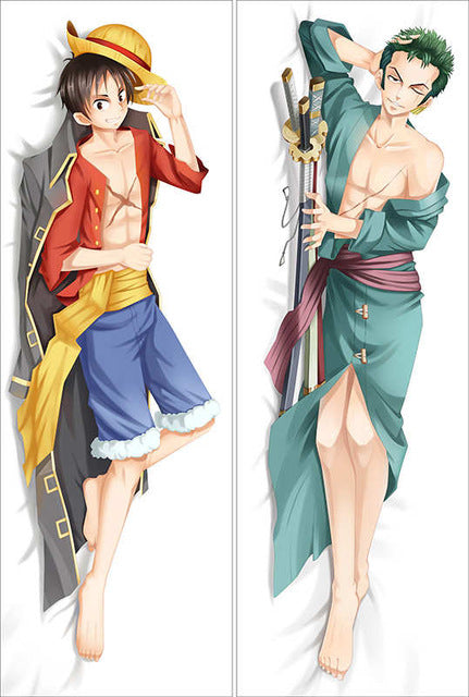 Hot anime one piece Characters nami & nico robin & boa hancock throw pillow cover monkey d luffy & roronoa zoro body Pillowcase