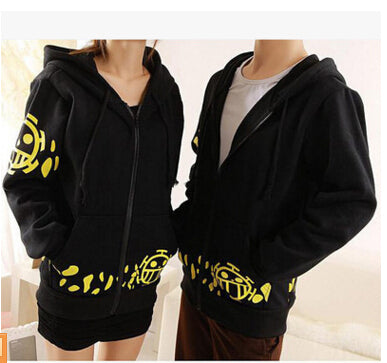 Trafalgar Law Cosplay Costume Black Hoodie