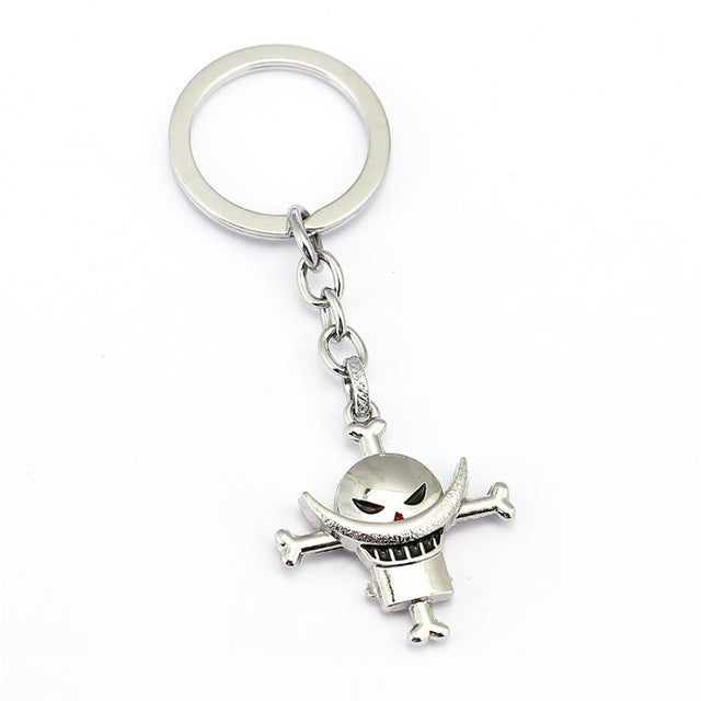 ONE PIECE Keychain Car Phone Bag Charm Key Chain Luffy Whitebeard Key Ring Holder Chaveiro Pendant Jewelry Souvenir