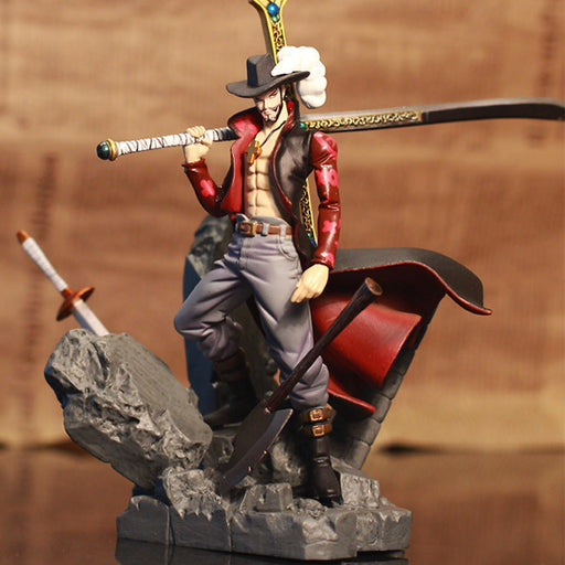 15CM Anime One Piece Dracule Mihawk PVC Action Figure model Toy A303